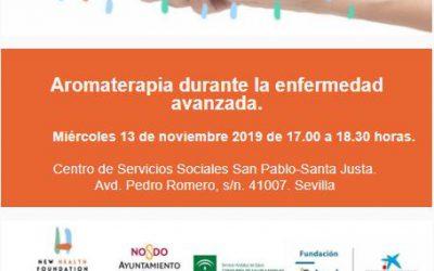 Taller Cuidando Contigo: Aromaterapia durante la enfermedad avanzada en Sevilla Contigo.