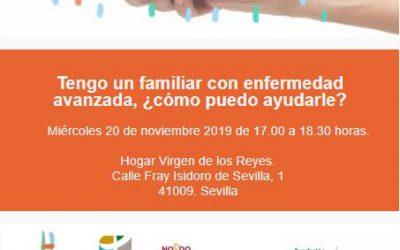 Taller Cuidando Contigo: Tengo un familiar con enfermedad avanzada, ¿cómo puedo ayudarle? en Sevilla Contigo.
