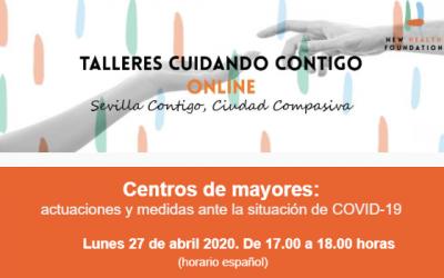 Taller online: Centros de mayores: actuaciones y medidas ante la situación de COVID-19