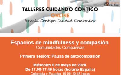 """Sesión online: """"Pauta de autocompasión"""" (Espacios Mindfullness y compasión)"""