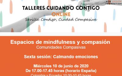 """SESIÓN ONLINE: """"CALMANDO EMOCIONES"""" (ESPACIOS MINDFULNESS Y COMPASIÓN)"""
